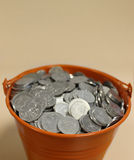 Money bucket Stock Photography