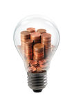 Money bulb Royalty Free Stock Image
