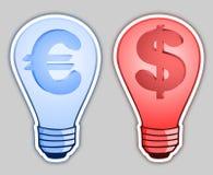 Money bulb Stock Photography