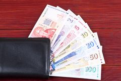 Money from Bulgaria. In the black wallet royalty free stock photos