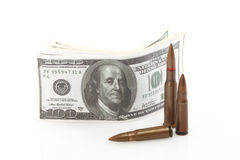 Money and bullets Royalty Free Stock Photography