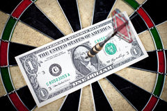Money and bullseye Stock Images