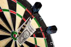 Money and bullseye Stock Photography