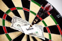 Money and bullseye Stock Images