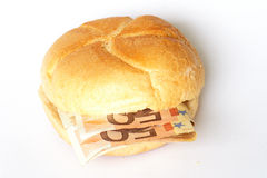 Money in Buns Royalty Free Stock Image