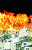 Money is burning Royalty Free Stock Image
