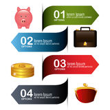 Money and Business design. Royalty Free Stock Images