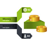 Money and Business design. Stock Image