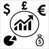 Money business and economic icons Royalty Free Stock Image