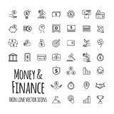 Money, business, finance, startup in outline design with elements for mobile concepts and web apps. For your design Stock Photography