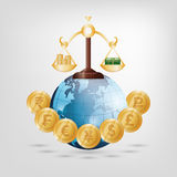 Money business financial. Icon vector illustration graphic design Royalty Free Stock Images