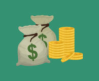 Money business financial. Icon vector illustration graphic design Stock Photos