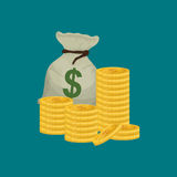Money business financial. Icon vector illustration graphic design Stock Photo