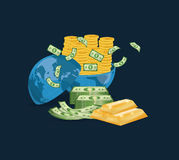 Money business financial. Icon vector illustration graphic design Royalty Free Stock Photography