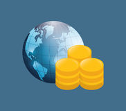 Money business financial. Icon vector illustration graphic design Royalty Free Stock Photos