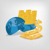 Money business financial. Icon vector illustration graphic design Royalty Free Stock Photo
