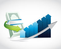 money business graph illustration design Royalty Free Stock Image