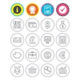 Money and business icon. Cash and cashless money. Stock Image