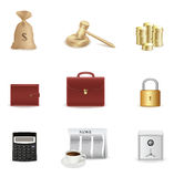 Money and business icon set Stock Photos