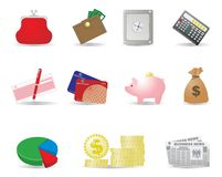 Money and business icons Royalty Free Stock Image
