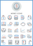 Money of business icons set Stock Images