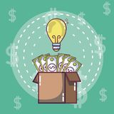 Money and ideas concept royalty free illustration