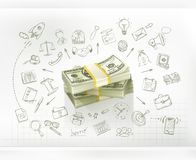 Money and  business infographics Royalty Free Stock Image