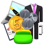 Money And Business Item Royalty Free Stock Photo