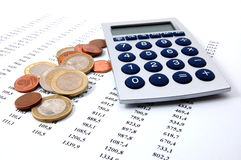 Money on business numbers Stock Photography