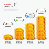 Money business plan infographic flat design. Vector money business plan infographic flat design Stock Photography