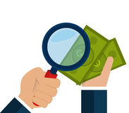 Money and business profits Royalty Free Stock Image