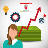 Money and business profits Royalty Free Stock Images