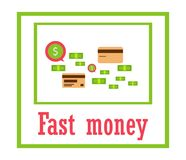 Money for business, travel, payments, purchases. Modern way of l Royalty Free Stock Photo