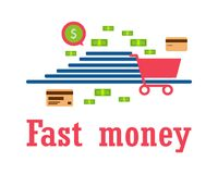 Money for business, travel, payments, purchases. Modern way of l Stock Images