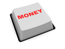 Money button Stock Photography