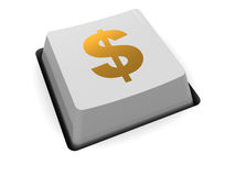 Money button Royalty Free Stock Photography