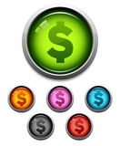 Money button icon Royalty Free Stock Photography