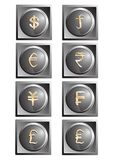 Money buttons Stock Photography