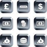 Money buttons Stock Images