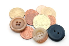 Money and Buttons Royalty Free Stock Photo