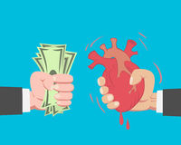 Money Buying A Heart Stock Photo