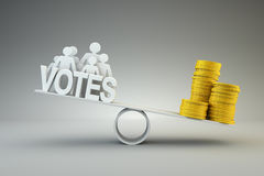 Money buys votes Stock Images