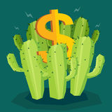Money cactus Royalty Free Stock Photography