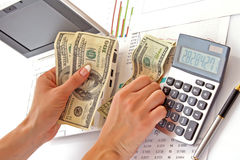 Money calculation Stock Photography