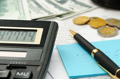 Money calculation Stock Image