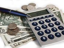 Money Calculation Royalty Free Stock Photos