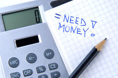 Money calculation Stock Photos