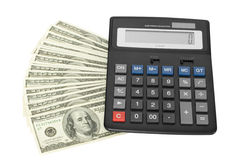 Money with calculator Royalty Free Stock Photos