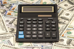 Money and calculator Stock Photo