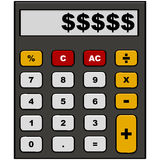 Money calculator Royalty Free Stock Photography